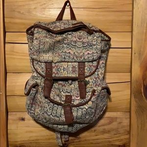 Urban Outfitters Ecote Canvas Patterned Backpack